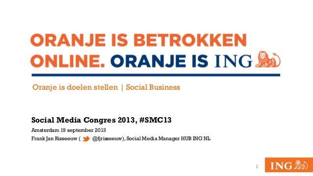Oranje is doelen stellen, Social Business @ ING Nederland