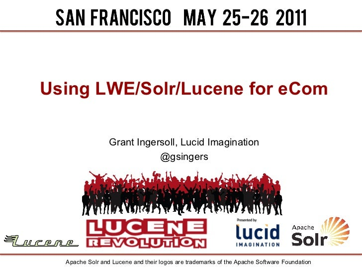 Using LWE/Solr/Lucene for eCom