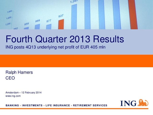 Fourth Quarter 2013 Results ING posts 4Q13 underlying net profit of EUR 405 mln  Ralph Hamers CEO  Amsterdam – 12 February...