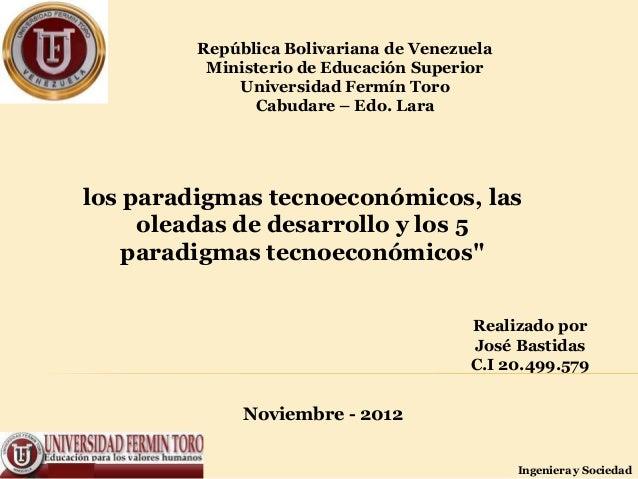República Bolivariana de Venezuela          Ministerio de Educación Superior             Universidad Fermín Toro          ...