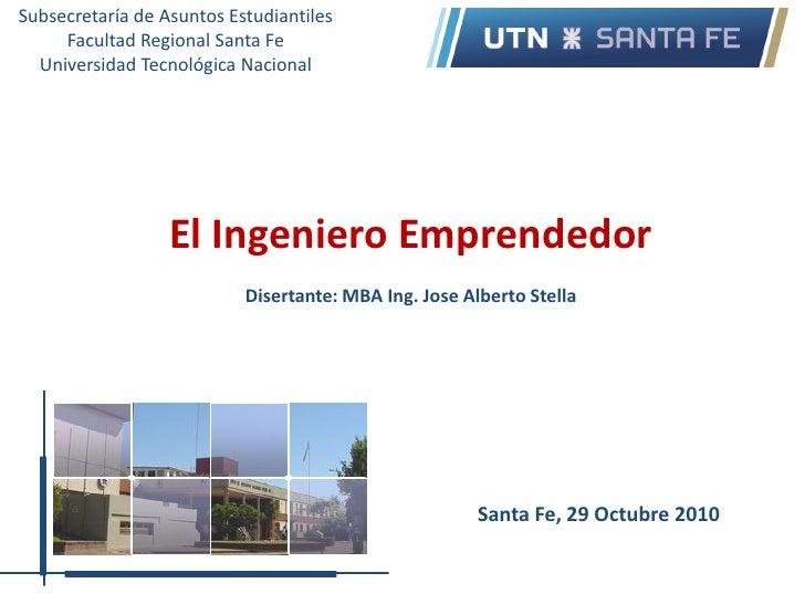 Subsecretaría de Asuntos Estudiantiles     Facultad Regional Santa Fe  Universidad Tecnológica Nacional                  E...