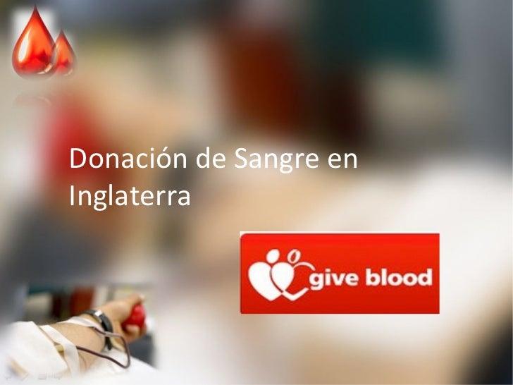 Donación de Sangre en Inglaterra