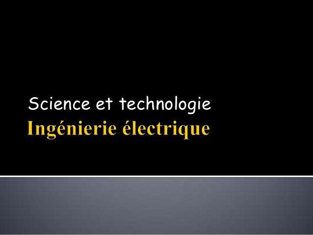 Science et technologie
