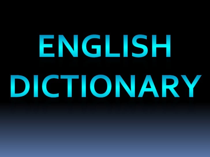English dictionary for One dictionary