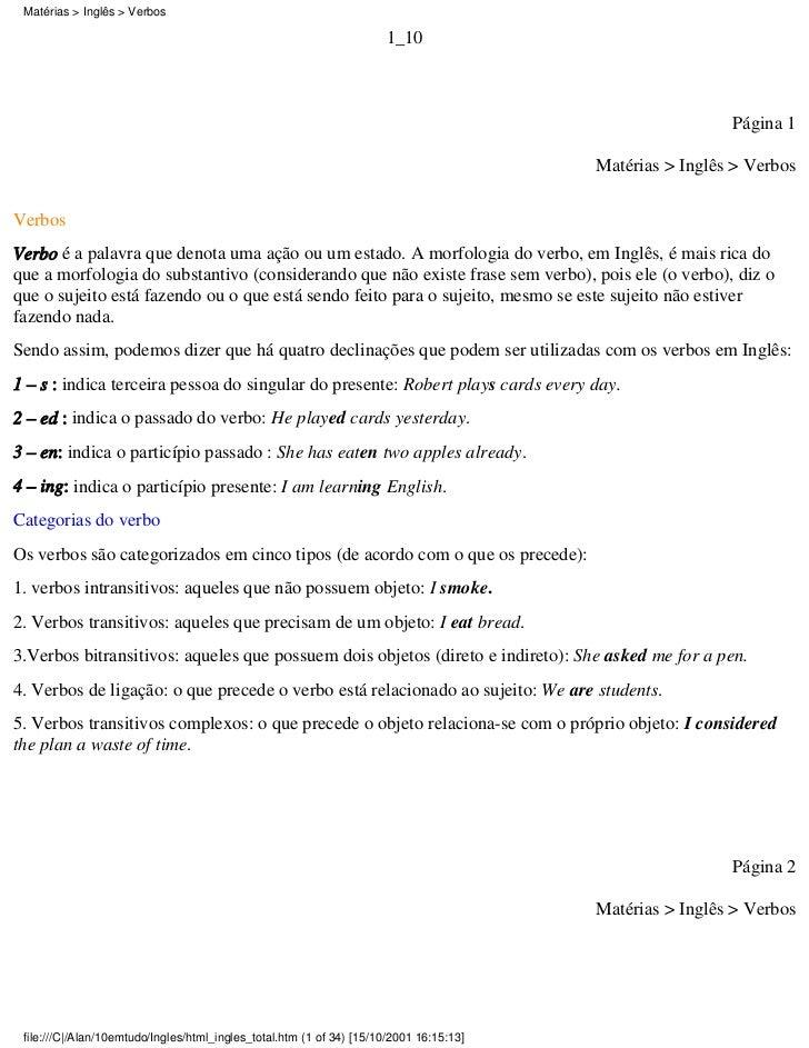 Matérias > Inglês > Verbos                                                                      1_10                      ...