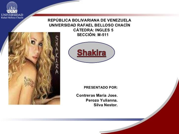 REPÚBLICA BOLIVARIANA DE VENEZUELA UNIVERSIDAD RAFAEL BELLOSO CHACÍN CÁTEDRA: INGLES 5 SECCIÓN: M-511   PRESENTADO POR: Co...