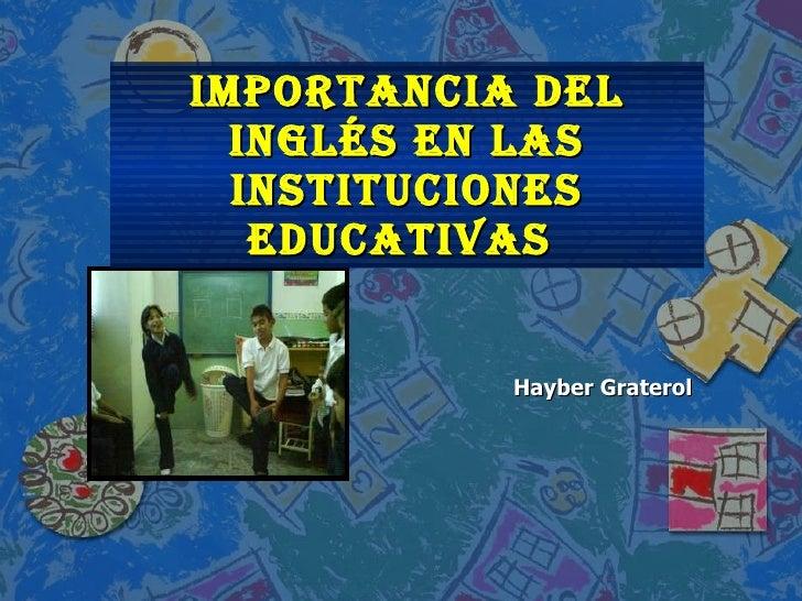Ingles en las instituciones