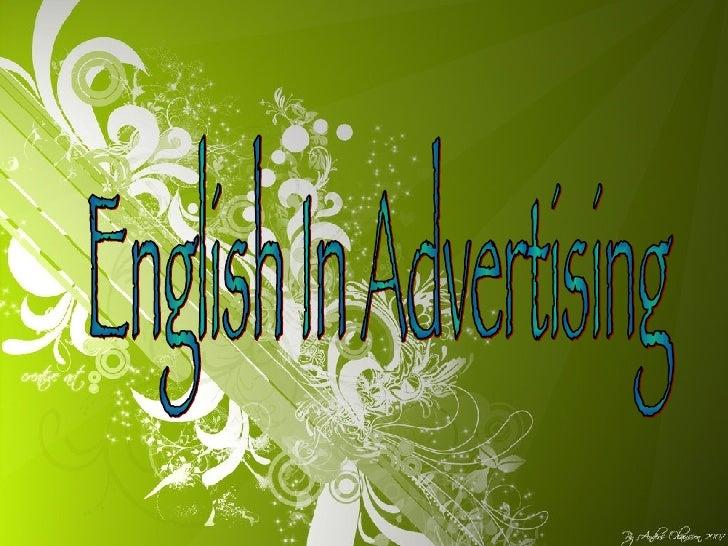 English In Advertising