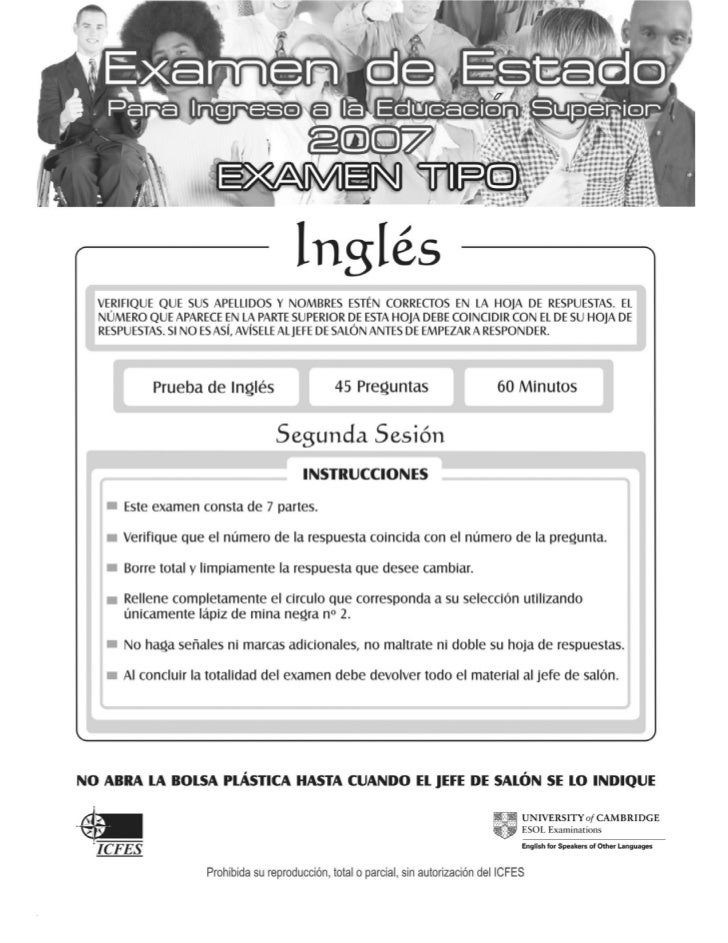 Ingles icfes 2007