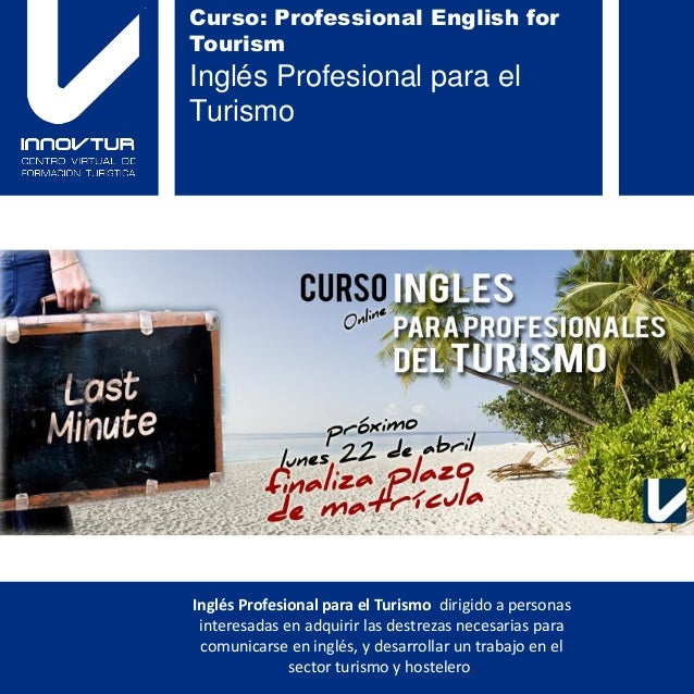 Curso: Professional English for                                        Tourism                                        Ingl...