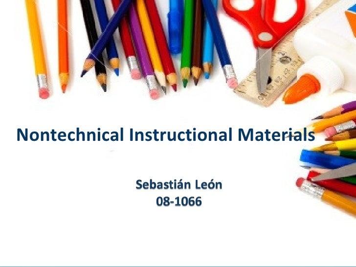 Nontechnical Instructional Materials