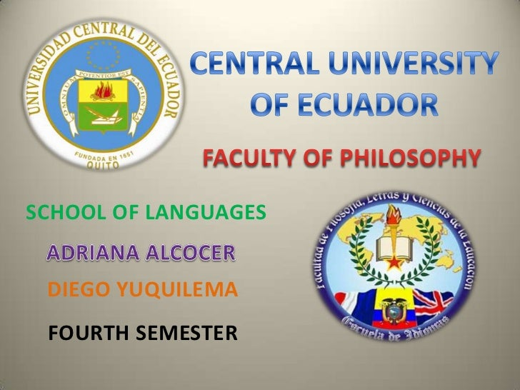 SCHOOL OF LANGUAGES DIEGO YUQUILEMA FOURTH SEMESTER