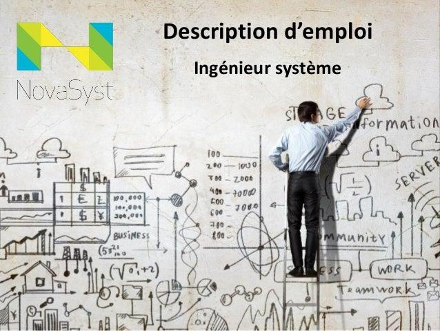 Description d'emploi Ingénieur système