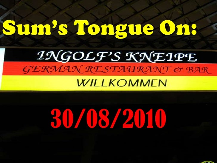 Sum's Tongue On:<br />30/08/2010<br />