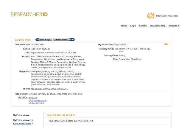 Ingovalgmad 2444-2009- researcher id