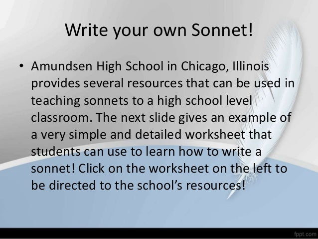 How To Write Sonnet Poems Research Paper Academic Service