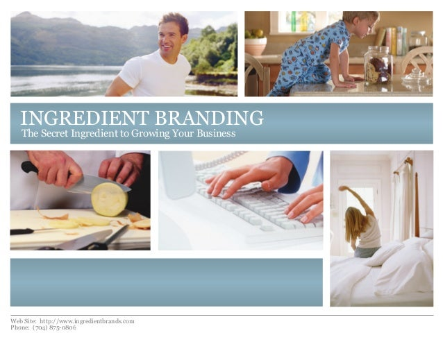 Ingredient branding
