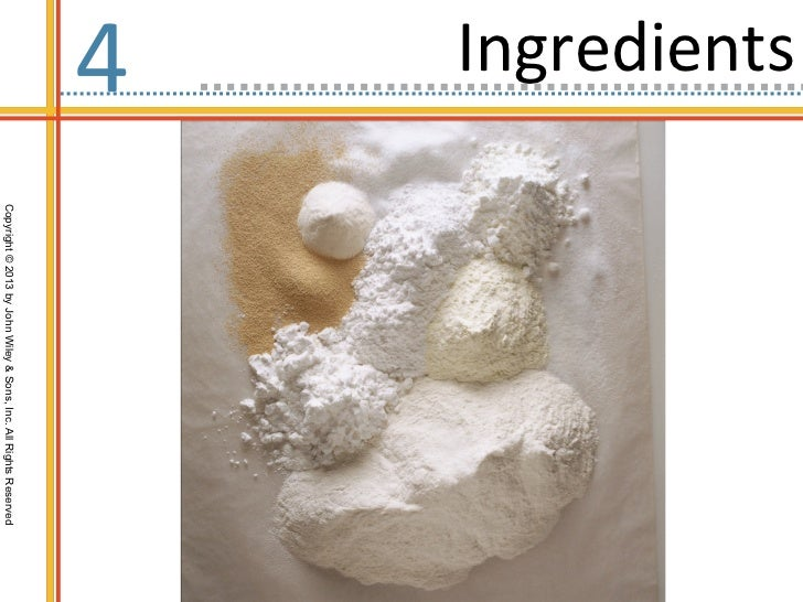 Ingredients4              Copyright © 2013 by John Wiley & Sons, Inc. All Rights Reserved