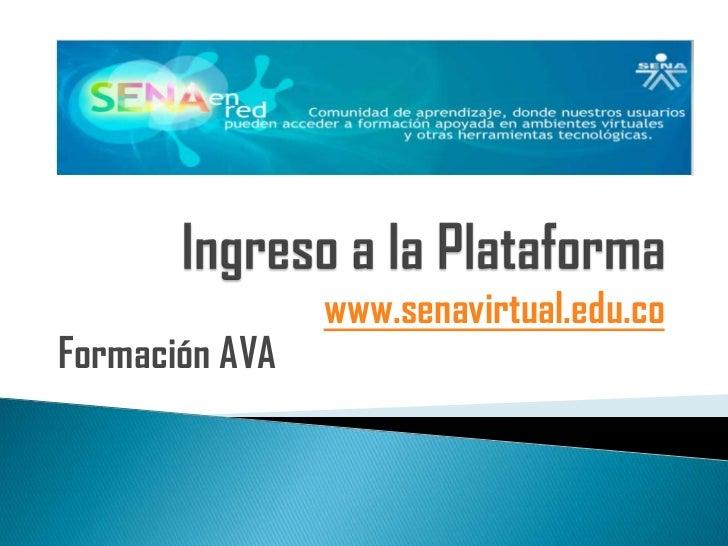 www.senavirtual.edu.coFormación AVA