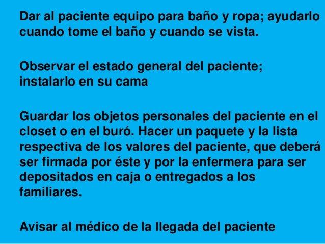 Baño General Del Paciente En Regadera:No hay notas en la diapositiva
