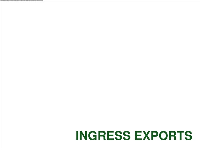 Ingress Exports