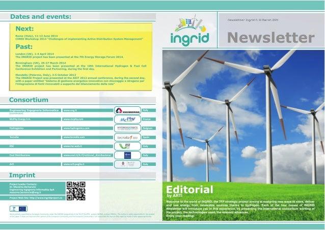 INGRID Newsletter - N°1 March 2014