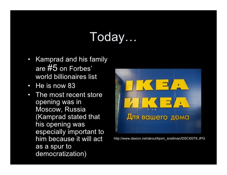 an analysis of the leadership of ingvar kampard owner of ikea Design diary: an ode to ikea founder ingvar kamprad in memory of iconic swedish magnate, we explore how the furniture giant is shifting gears to focus on quality, design and sustainability.