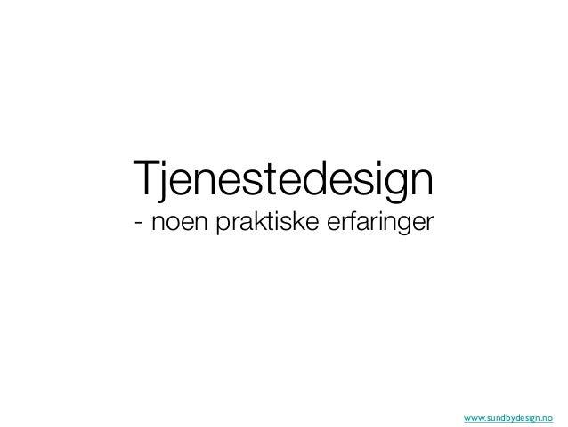 Ingvild Sundby tjenestedesign