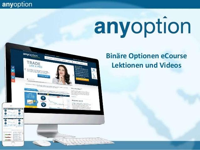 Binäre Optionen eCourse Lektionen und Videos