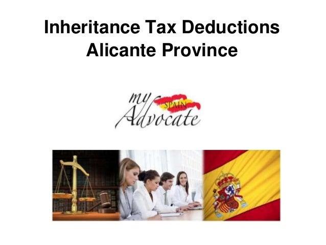 Inheritance tax deductions valencia