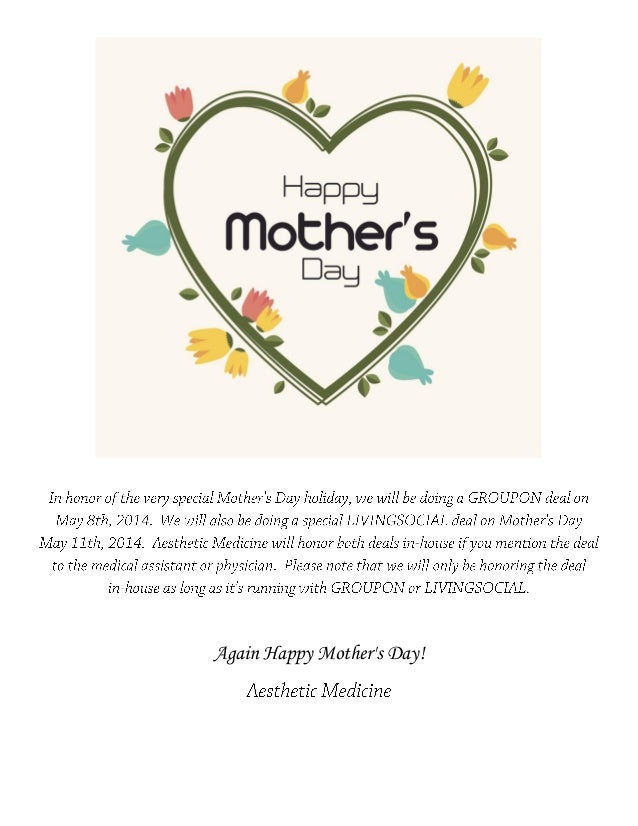 Dr. Darm, Mother's Day Specials