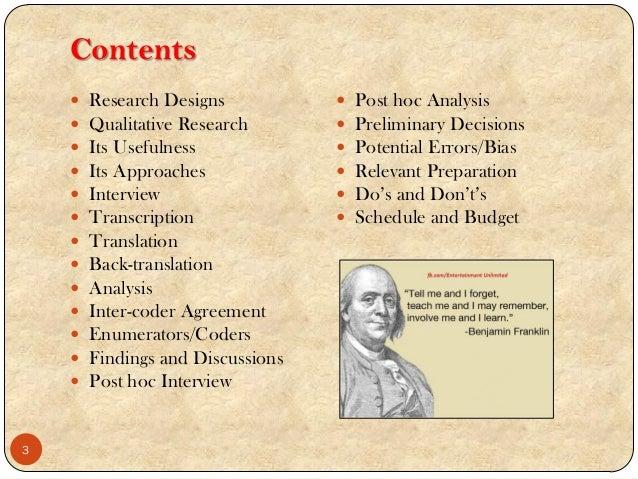 bias qualitative research