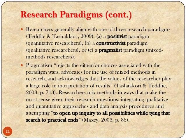 Research paradigm examples