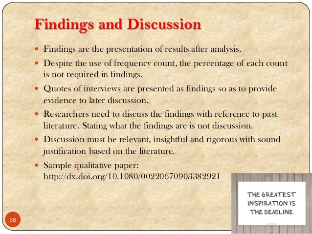 Discussion of research findings