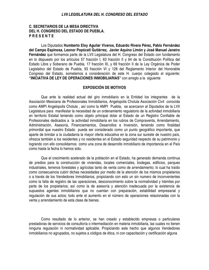 LVII LEGISLATURA DEL H. CONGRESO DEL ESTADO  C. SECRETARIOS DE LA MESA DIRECTIVA DEL H. CONGRESO DEL ESTADO DE PUEBLA. PRE...