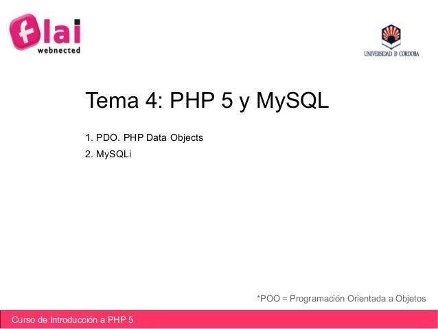 Iniciación PHP 5. PHP y MySQL
