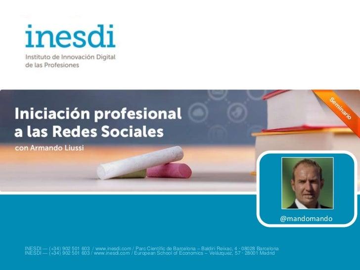 Iniciación profesional a las Redes Sociales