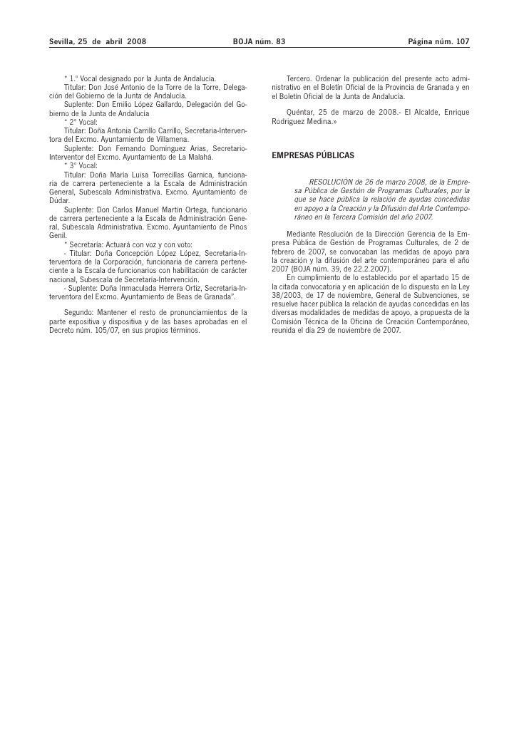 Anuncio concesión 3ª fase 2007