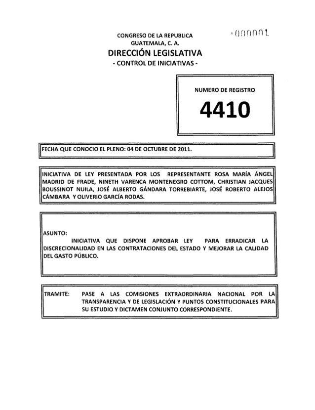 CONGRESO DE LA REPUBLICA              ~oDDnnt                               GUATEMALA, C. A.                         DIREC...