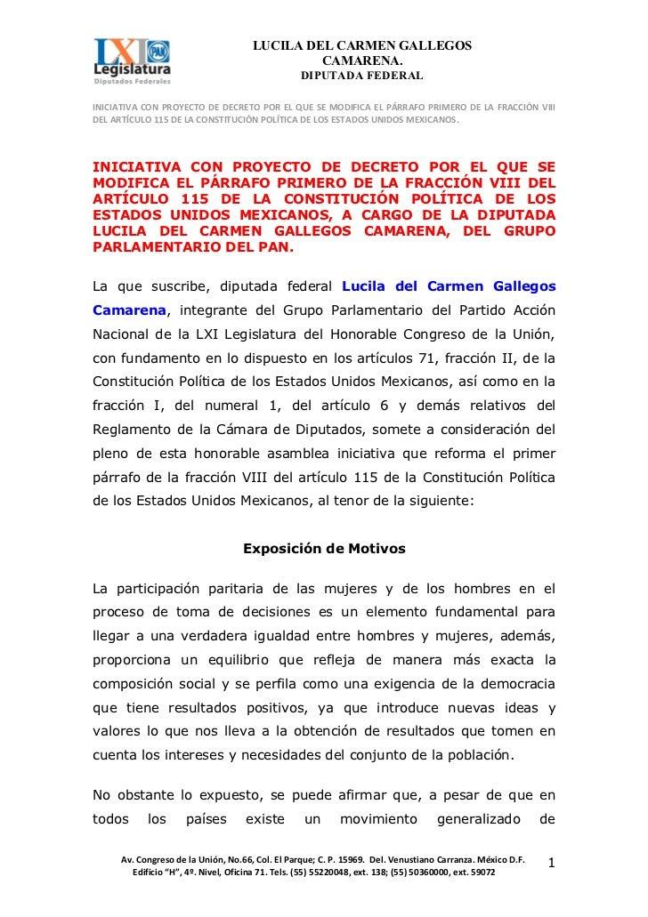 LUCILA DEL CARMEN GALLEGOS                                              CAMARENA.                                         ...