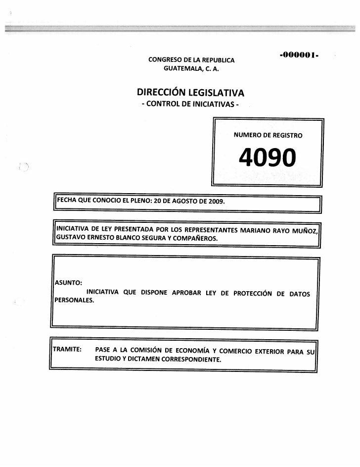 Iniciativa de ley número 4090