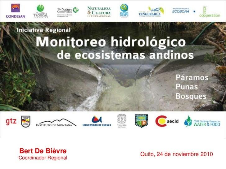 Iniciativa regional monitoreo hidrologico de ecosistemas andinos