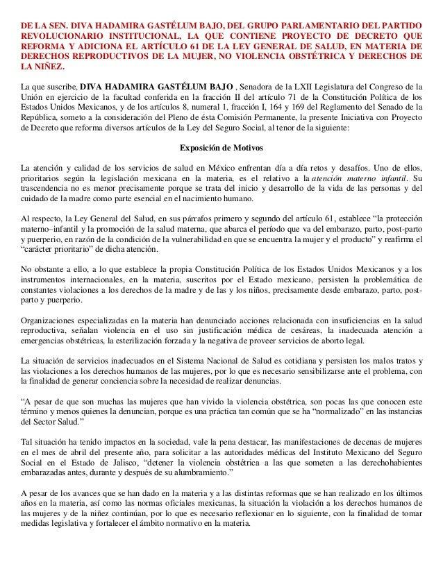 DE LA SEN. DIVA HADAMIRA GASTÉLUM BAJO, DEL GRUPO PARLAMENTARIO DEL PARTIDO REVOLUCIONARIO INSTITUCIONAL, LA QUE CONTIENE ...