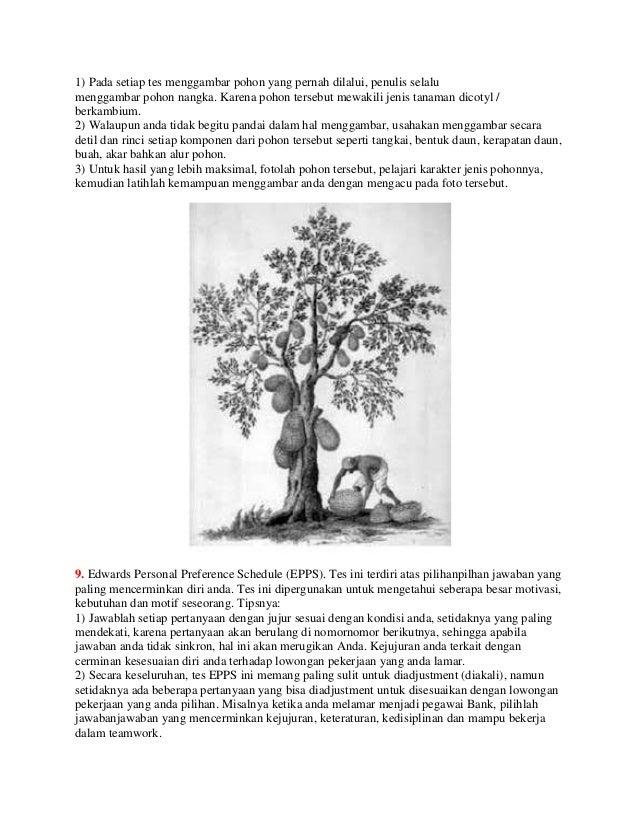 Inilah Arti Gambar Pohon Dalam Psikotes Ari Iswanto