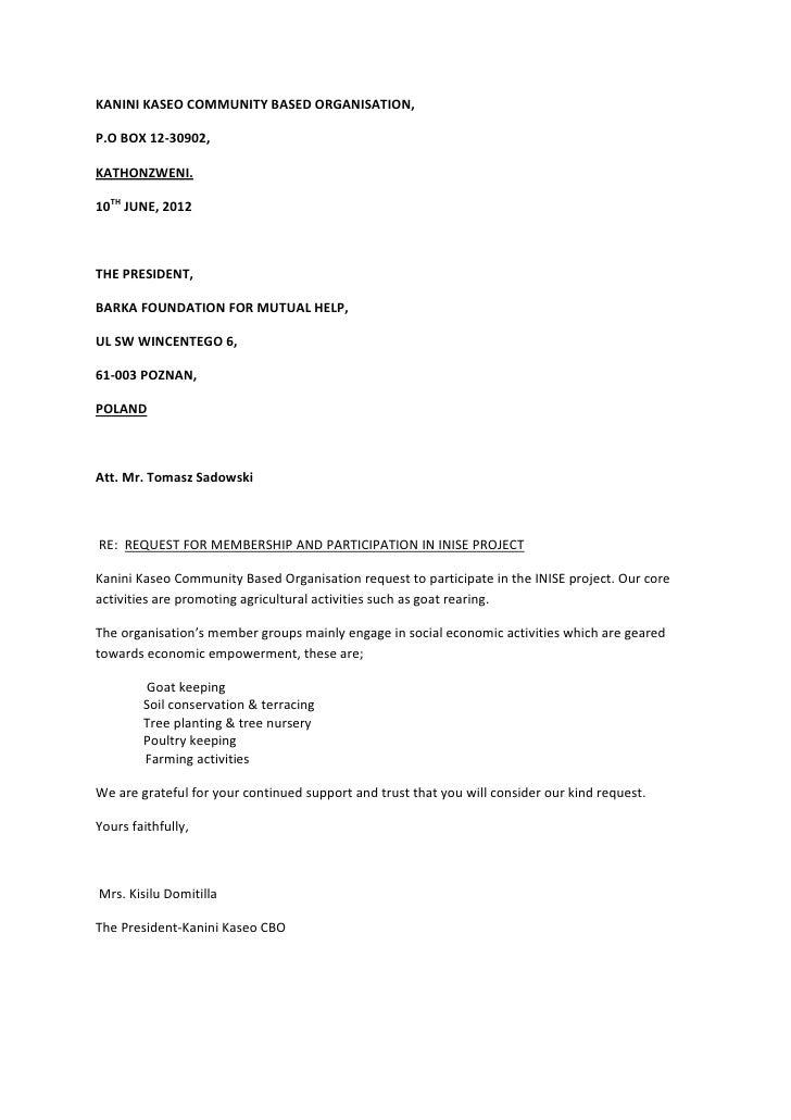 KANINI KASEO COMMUNITY BASED ORGANISATION,P.O BOX 12-30902,KATHONZWENI.10TH JUNE, 2012THE PRESIDENT,BARKA FOUNDATION FOR M...