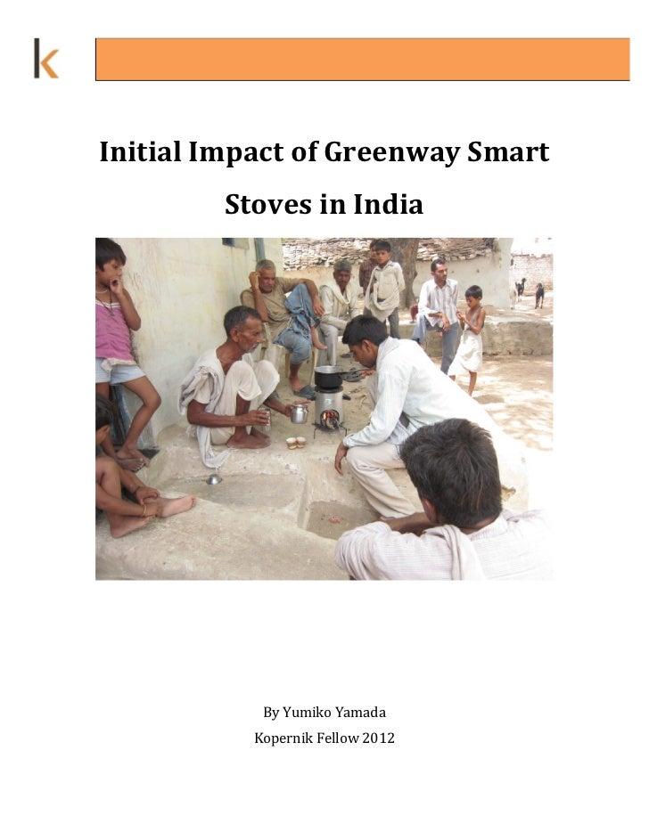 InitialImpactofGreenwaySmart         StovesinIndia                                                             ...