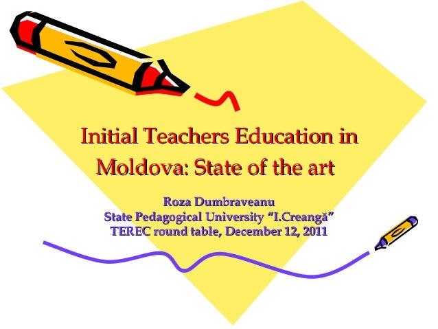 Initial teachers education in moldova