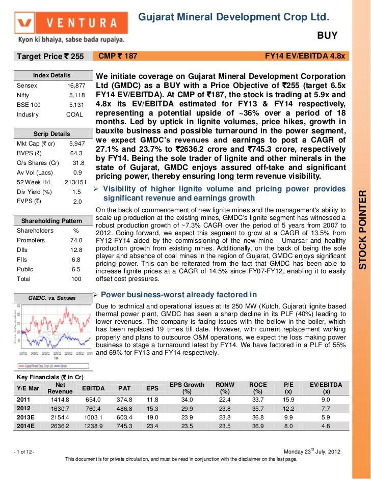 Gujarat Mineral Development Crop Ltd.                                                                                     ...