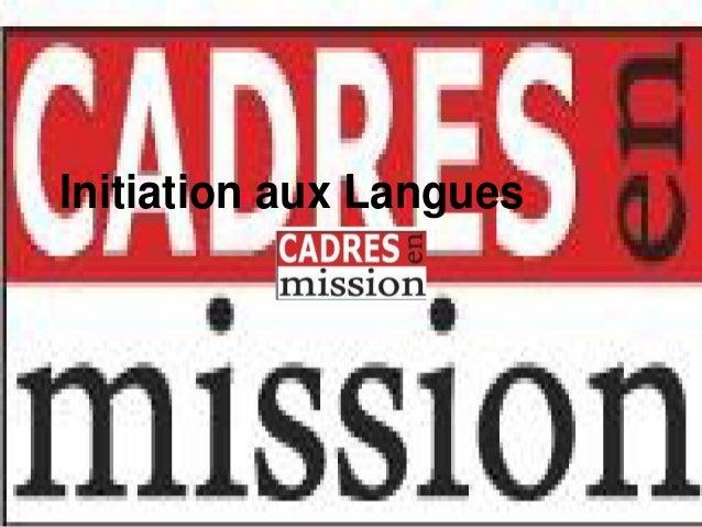 Initiation aux Langues