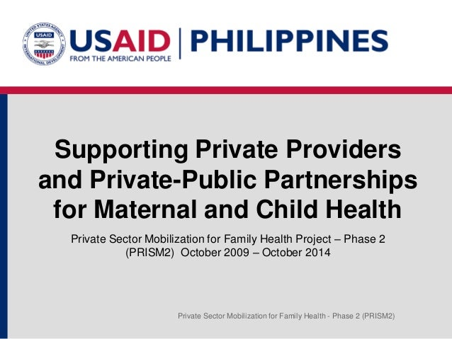 Supporting Private Providers and Public-Private Partnerships for Maternal and Child Health